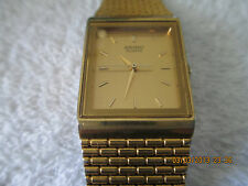 New Price! Sale Great Vintage Goldtone 80s era Seiko Quartz Mens Watch
