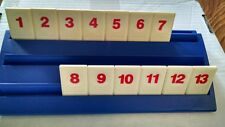 RUMMIKUB TIME RUMMY O Game Replacement Parts Set OF 13 RED Tiles 1 2 3 4 5 6 7 8