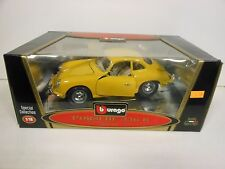 Burago 1961 Porsche 356 B Coupe Yellow (Die-cast - 1:18 Scale)