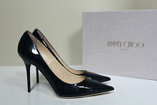 New sz 8 / 38 Jimmy Choo Abel Blue Patent Leather Classic Pointed Toe Pump Shoe