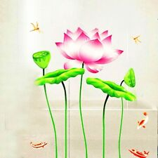 Wall Stickers  Removable Goldfish Swim Lotus Flower Mural Decals Mural Art