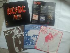 AC / DC OFFICIAL GERMAN COLLECTORS EDITION 3 VINYL 12 INCH LP SET MEGA MEGA RARE
