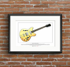 John Lennon's 1965 Epiphone Casino Limited Edition Fine Art Print A3 size