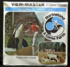 Vintage GAF VIEW MASTER - World Travel MARINELAND & GAME FARM 1976 N.F.-  Sealed