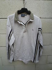 Polo EDEN PARK beige rugline double col rugby L manches longues