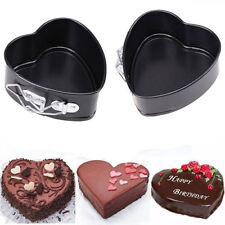 Non-Stick Love Heart Shape Cake Pan Tin DIY Mold Baking Cheese Bread Tray WB