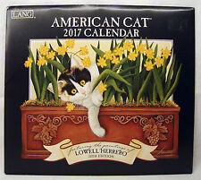 2017 Lang Wall Calendar American Cat Lowell Herrero  NEW