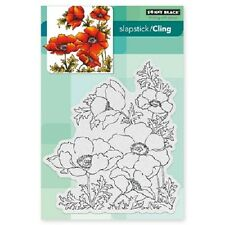 PENNY BLACK RUBBER STAMPS SLAPSTICK CLING POPPY GEMS NEW STAMP