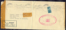 South Africa, 1943, Cover from Pretoria with machine cancel to New York in USA