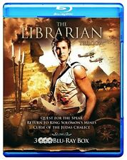 The Librarian Trilogy I II III (Blu-Ray CULT Box Set, Region Free, 3-Disc) NEW
