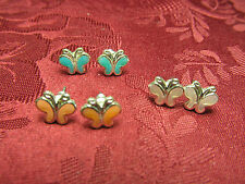 Set of 3 Butterfly Posts Fashion Earrings