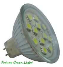 MR16 12 SMD LED 12V (10-30V DC) 180LM 2W WARM WHITE BULB WITH GLASS COVER ~35W