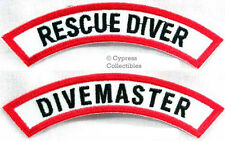 DIVEMASTER + RESCUE DIVER CHEVRON 2 SCUBA DIVING PATCH embroidered iron-on
