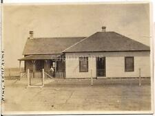 Farm Home Sweet Home On The Prairie Bib Overalls Boy Kid On Porch 1910s Photo