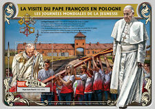 Niger 2016 MNH Pope Francis World Youth Day 1v S/S Pope John Paul II Stamps