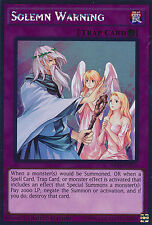 Solemn Warning Trap Platinum Rare Yugioh Card Single NKRT-EN035