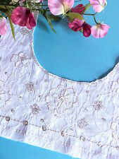 """319# CHARMANT COL APPLICATION """" PRINCESSE """" DENTELLE SEQUIN PERLE SHABBY CHIC"""