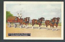 Ca 1934 PPC* WILSON & CO SIX HORSE MATCHED TEAM OF CLYDESDALES MINT HAS STAINS