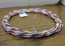 25 feet 20 AWG Silver Plated PTFE Wire White Black Orange 7 strands