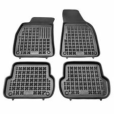 RUBBER FLOOR MATS SET BLACK FOR 2004-2007 AUDI B7 A4 S4 RS4