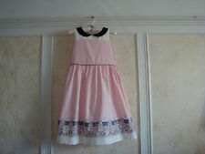NWT JANIE AND JACK High Tea Treasure Girls Rooftop Border Dress 12 Pink
