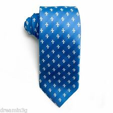 Sigma Chi Blue Cross Design Tie - Brand New Product!