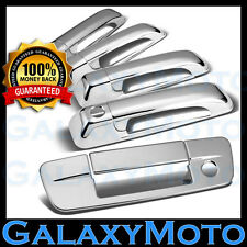 09-16 Dodge Ram 1500+2500+3500+HD Chrome 4 Door Handle+Tailgate W/Keyhole Cover