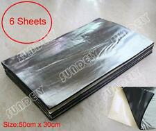 6 Sheet Heat Shield Mat Car Exhaust Muffler Insulation fr hood Fiberglass Cotton