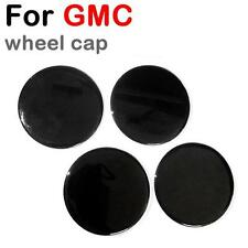 SET OF 4 For CHEVY GMC Wheel Center Hub Caps Metal Emblem Badge 88mm Full Black