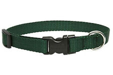 "Lupine Dog Collar 1"" GREEN 16"" - 28"" New Solid Forest Green Nylon Made in USA"