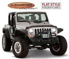 Bushwacker 10919-07 Front & Rear Flat Style Fender Flares for Wrangler 2-Door