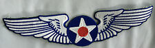 Air force wings embroidered cloth back patch.