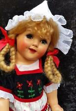 "MUST SEE 18"" Ideal Doll Shirley Temple Heidi Doll Composition doll"
