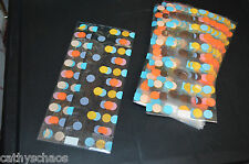 25 Cello Bags Fall Polka Dots Print Cellophane Holiday Candy Cookie Treat Gifts