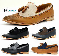 Mens Slip On Smart Shoes Casual Tassel Loafers Dress Office Size 6 7 8 9 10 11