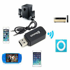 Wireless Bluetooth 3.5mm AUX Audio Stereo Music Home Car Receiver Adapter Mic PC