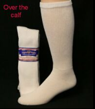Physicians Choice Over the Calf 12pr of MENS SIZE 13-15 WHITE Diabetic Socks