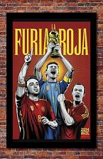 FIFA World Cup Soccer Event Brazil | TEAM SPAIN Poster | 13 x 19 inches
