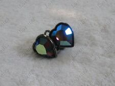 Yves St Laurent YSL Heart Rhinestone Earrings