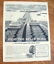 1961 Kelly Tires Ad      Ford Mercury Automobiles