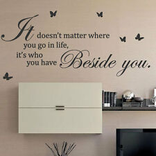 It Doesn't Matter Where You Go Butterfly Art Wall Sticker Quotes Wall Decals 43
