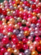 200pc pearls mix colors no hole round beads 6mm for DIY Projects/Weddings/Decors
