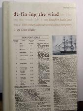 DEFINING THE WIND-SCOTT HULER-HISTORY-BEAUFORD SCALE-METEOROLOGY-BOOK-1ST ED HC