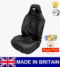 TESLA CAR SEAT COVER PROTECTOR SPORTS BUCKET HEAVY DUTY WATERPROOF - MODEL S