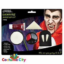 Dracula Vampiro Halloween Viso Pittura MAKE Up Kit Party Costume