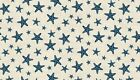 "Sea View STAR FISH on Cream Cotton fabric Makower Size 22""x18"" larger available"