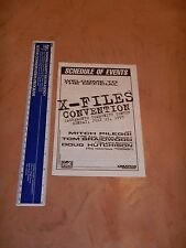 1995 THE X FILES CONVENTION PROGRAM, SACRAMENTO CALIFORNIA