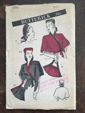 Vintage Butterick Sewing Pattern Hat Cape and Purse 3290 Uncut Factory Folded
