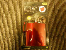 """Red Holiday Flask 'Carabiner Hip Flask'  """"Rock the Red"""""""