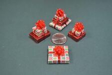 Miniature Christmas Presents, a triple, 2 doubles and a single,Ho Ho Pattern